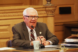 Sen. Rick Wilborn, a McPherson Republican, said overriding vetoes issued by Democratic Gov. Laura Kelly would be more difficult that some GOP lawmakers would like. (Sherman Smith/Kansas Reflector)