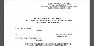 Former U.S. Rep. Steve Watkins, a Republican who served the 2nd District, signed a diversion agreement to avoid trial on three felonies tied to election fraud. The deceptions were first reported by The Topeka Capital-Journal. (Screen capture/Kansas Reflector)