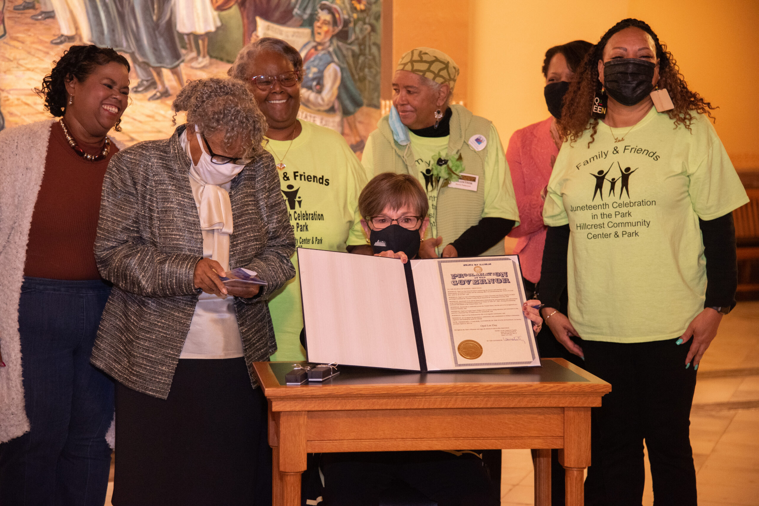 Kansas governor recognizes 'little lady in sneakers' advocating for national Juneteenth holiday