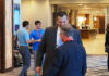 Kris Kobach, a former Kansas secretary of state, kept a low profile last weekend at the Kansas Republican Party convention in Manhattan. On Thursday, he entered the race for attorney general. (Tim Carpenter/Kansas Reflector)