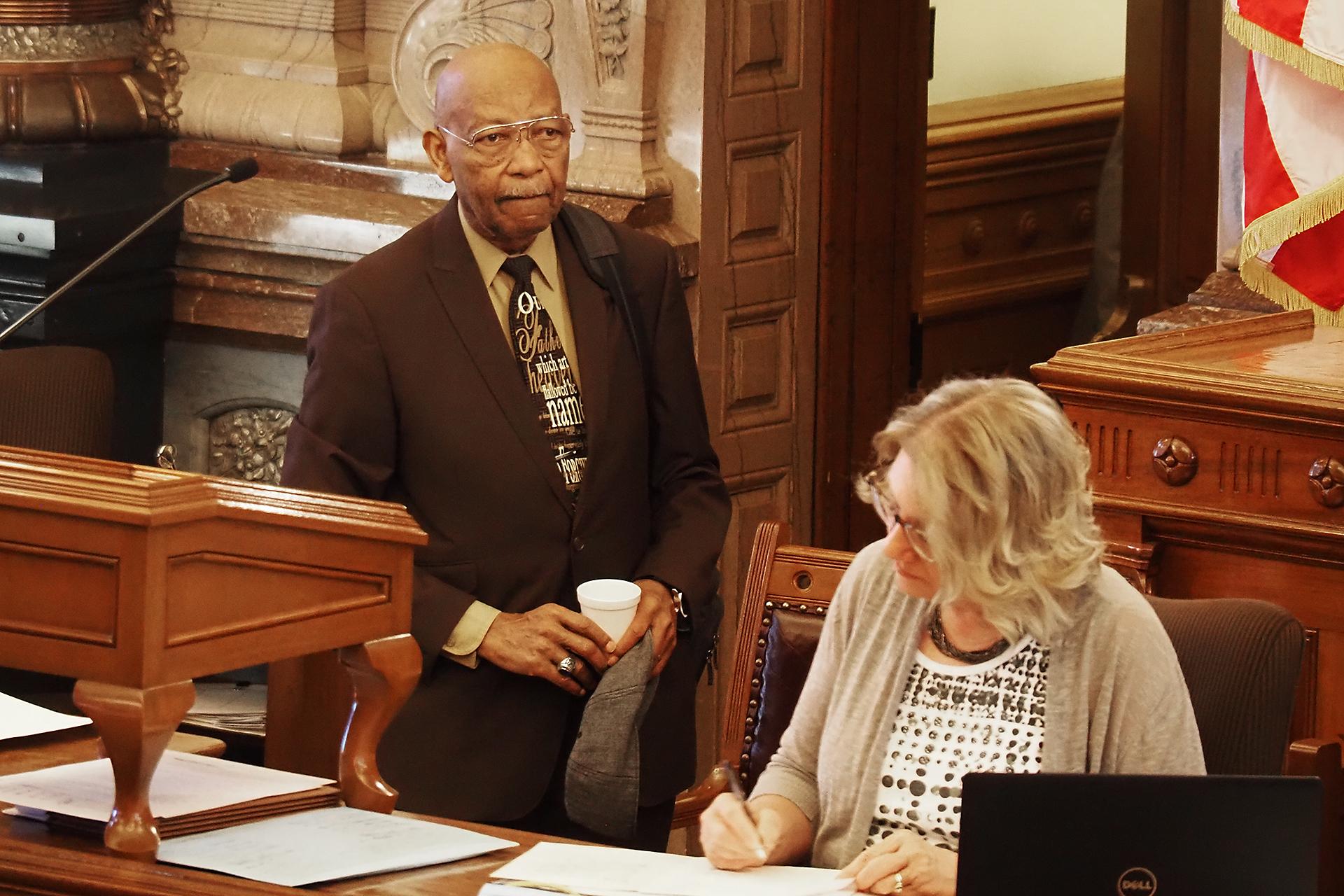 The Rev. Cecil Washington, who regularly delivers opening prayers in the Kansas Senate, urged senators to consider