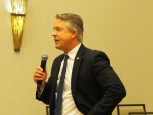U.S. Sen. Roger Marshall, R-Kan., believes the District of Columbia shouldn't become the 51st state and that if Democrats keep pushing the idea the best alternative is to transfer residential land in D.C. to Maryland. (Tim Carpenter/Kansas Reflector)