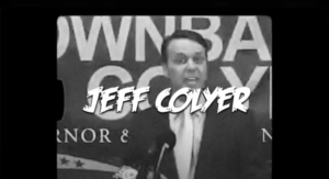 The Democratic Governors Association included video of Republican gubernatorial candidate Jeff Colyer praising then-Gov. Sam Brownback when creating a video designed to undermine Colyer. (Screen capture/Kansas Reflector)