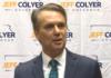 Former Gov. Jeff Colyer makes official hyis campaign for governor in 2022 with an endorsement from U.S. Sen. Roger Marshall, R-Kan. (Screen capture/Kansas Reflector)