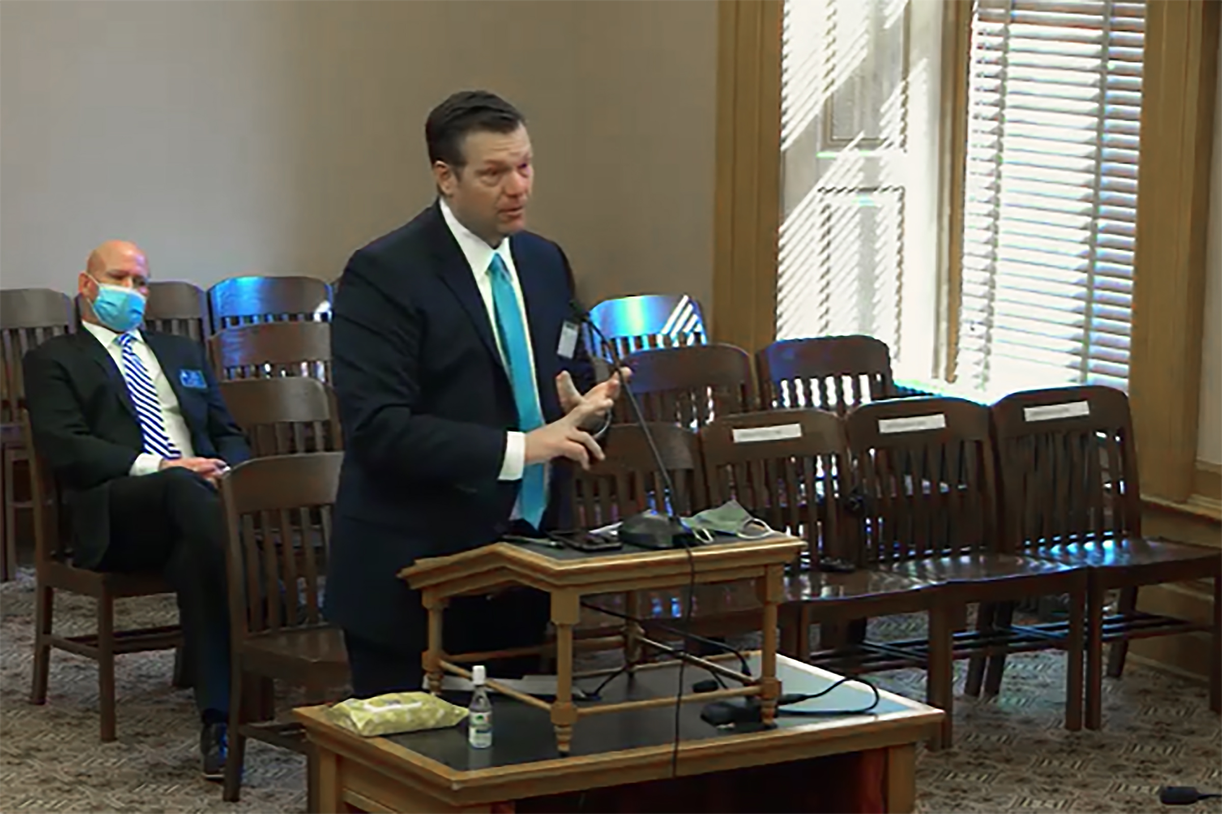 Kobach meets with Pennsylvania Republicans to talk election, immigration policy