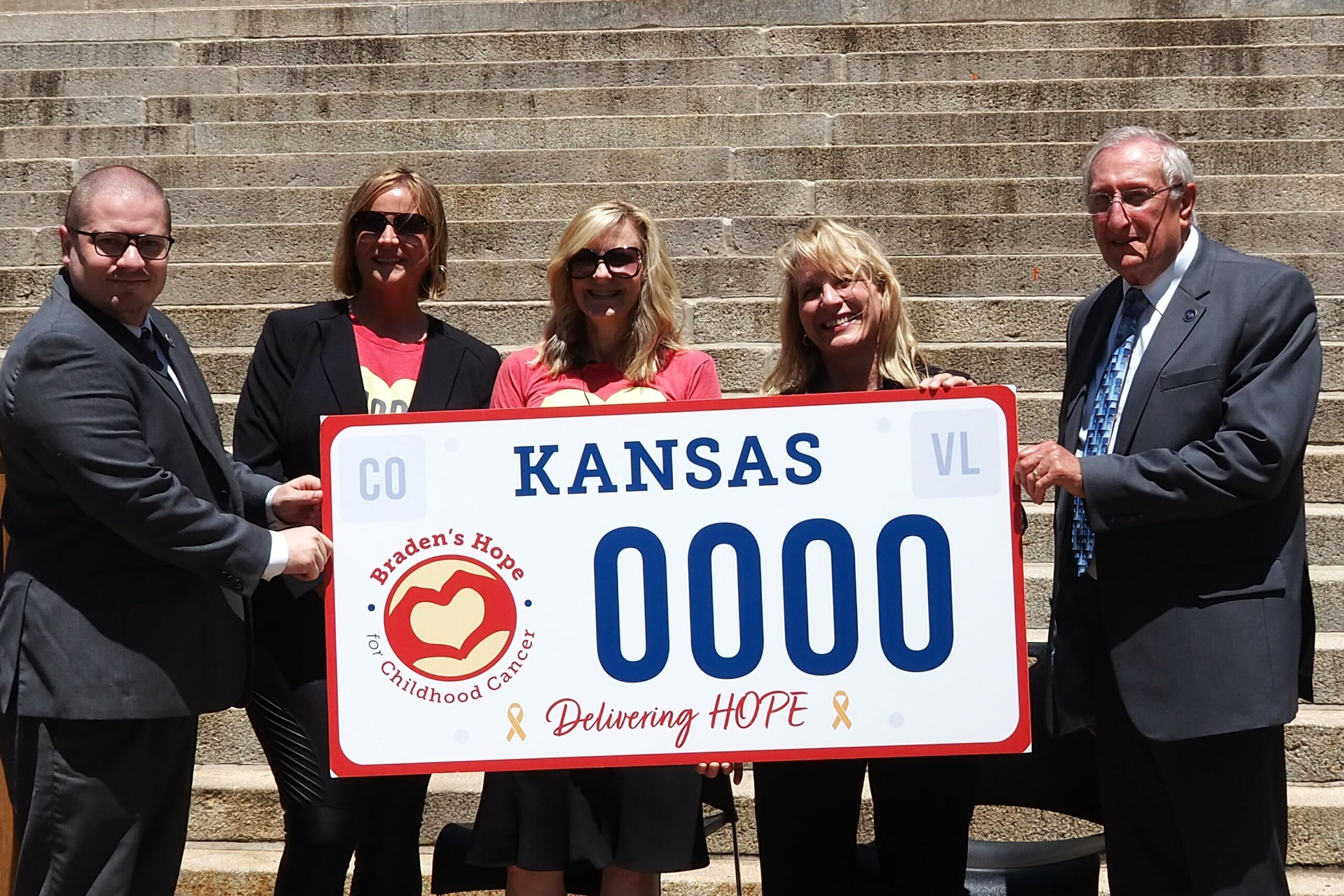 New Kansas license plate will help raise money for childhood cancer research