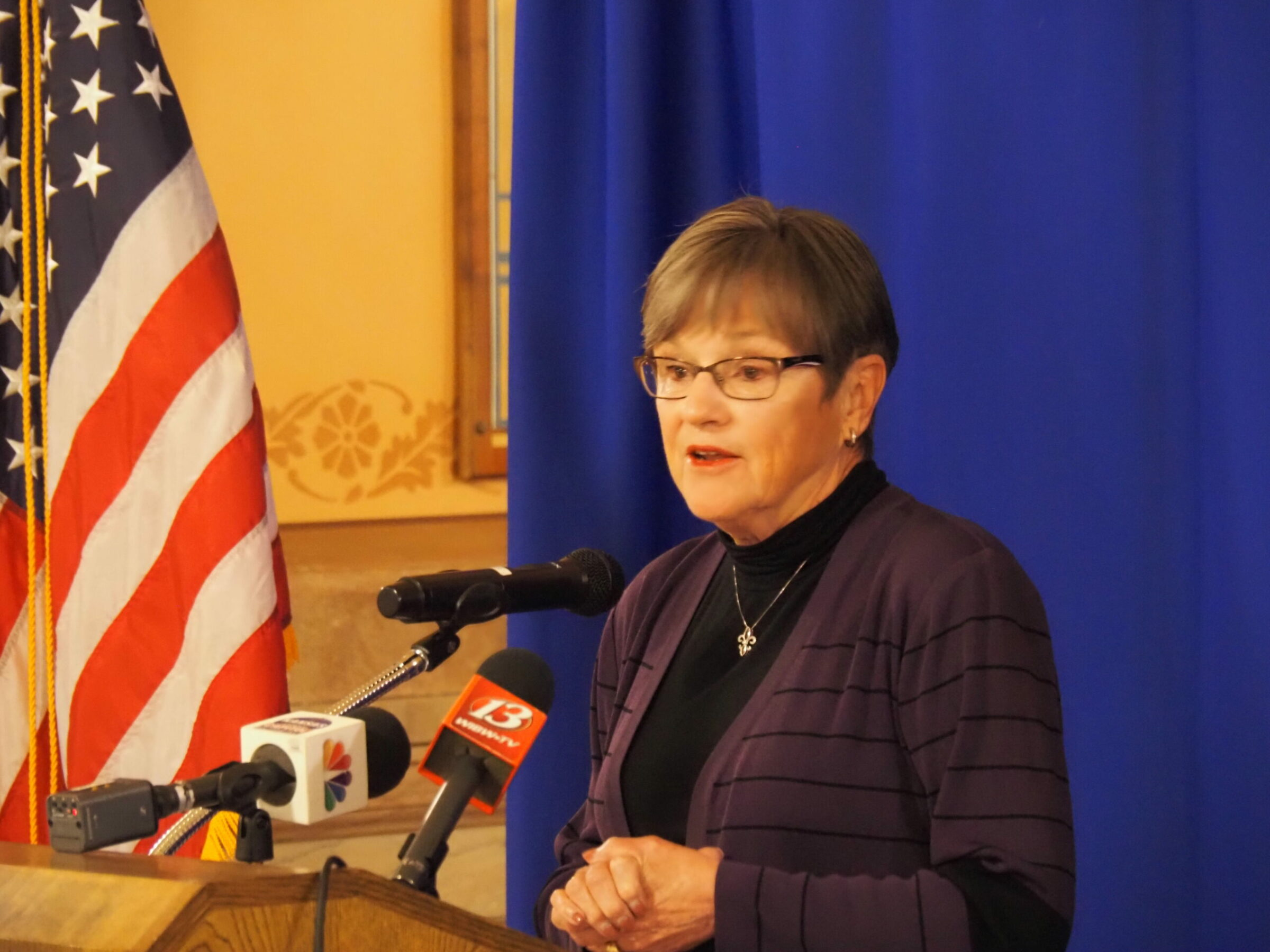 The bill signed into law Monday by Gov. Laura Kelly fully funds public education at a rate of $5.2 billion annually. She also extended a 20-mill property tax levy crucial to funding public schools. (Tim Carpenter/Kansas Reflector)
