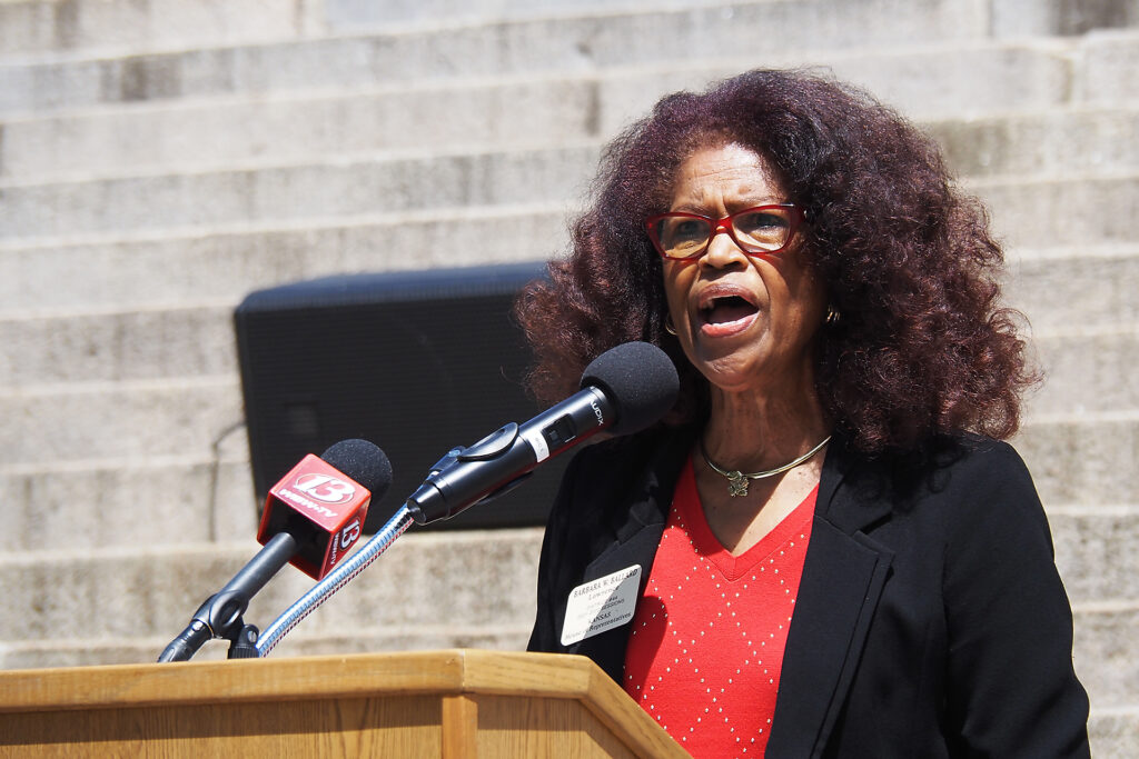 Rep. Barbara Ballard, a Lawrence Democrat, was elected in 1992 and is the longest-serving member of the Kansas House. The state's senior senator is Democrat David Haley of Kansas City, Kansas, who was elected in 1994. (Sherman Smith/Kansas Reflector)