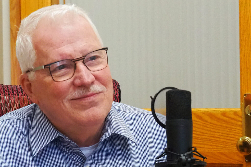 Kansas Department of Health and Environment secretary Lee Norman discusses on the Kansas Reflector podcast impact of COVID-19 after more than one year of the pandemic. (Sherman Smith/Kansas Reflector)