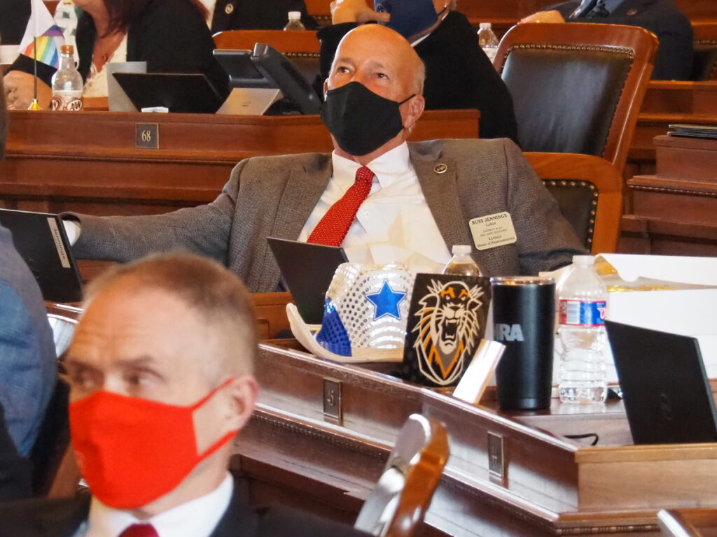 Rep. Russ Jennings, a Lakin Republican, said economic and medical arguments supporting legalization of medical use of marijuana work just as well to support the cause of Medicaid expansion. (Tim Carpenter/Kansas Reflector)