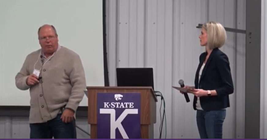 Northwest Kansas hog producer Terry Nelson and his daughter-in-law, Julia Nelson, talk about a devastating 2017 fire that destroyed three hog barns and killed 9,000 pigs. The blaze led to controversial expansion of the Nelson hog operation. (Screen capture/Kansas Reflector)