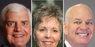 Gov. Laura Kelly appointed, from left, Wint Winter, Cynthia Lane and Carl Ice to the Kansas Board of Regents to replace three appointees of former Gov. Sam Brownback. (Submitted)