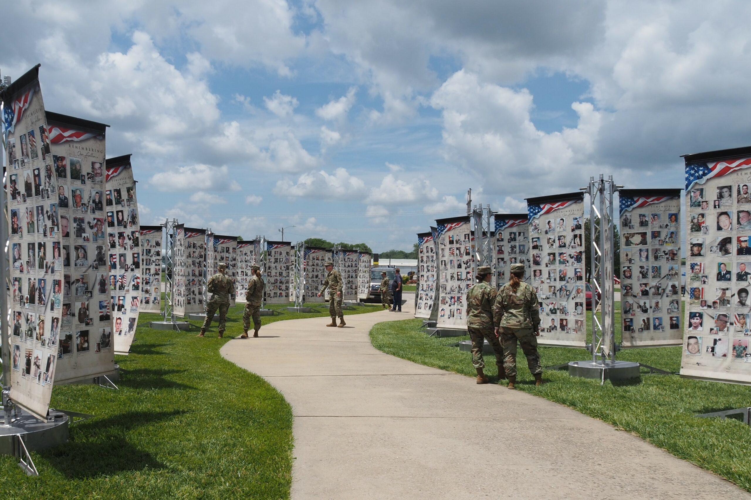 Traveling memorial honors fallen service members day after Kansas airman dies