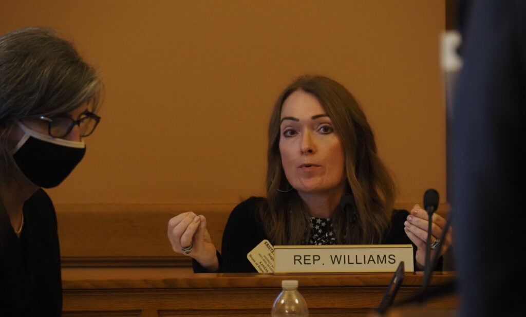 Rep. Kristey Williams, the Augusta Republican who chairs the Legislature's joint auditing committee, welcomed a report Monday estimating the state sustained an $700 million in unemployment claims fraud during the COVID-19 pandemic. (Noah Taborda/Kansas Reflector)
