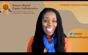 Shanelle Dupree, the Kansas City director of the Kansas Department of Children and Families, shared optimism a new sense of collaboration can tackle racism influencing the agency's work with children in need of care. (Screen capture of DCF event/Kansas Reflector)
