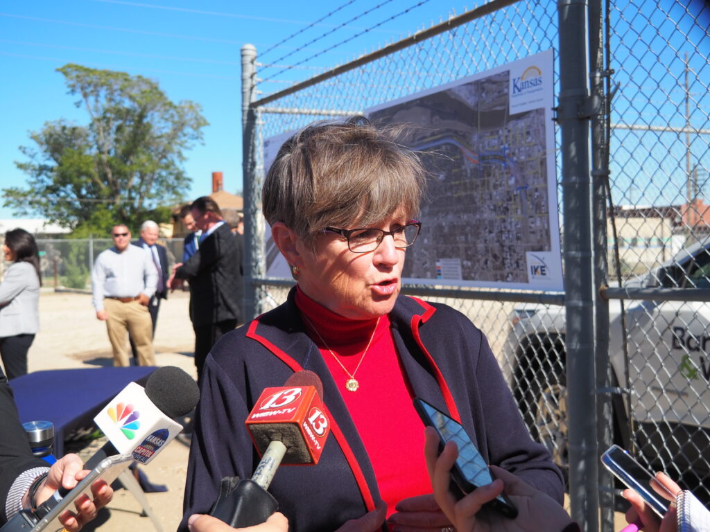 Gov. Laura Kelly encouraged Democratic legislators to participate in the special committee formed by Republican House and Senate leaders to consider formal responses to federal vaccination mandates and requirements for wearing masks during COVID-19 pandemic. (Tim Carpenter/Kansas Reflector)