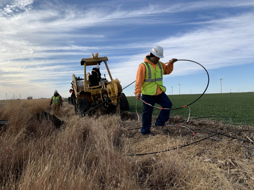 The federal government's response to the COVID-19 pandemic in 2020 resulted in the infusion of millions of dollars into expansion of the broadband network in Kansas to support educational, medical, business and residential demands. This work was done at Spearville through a contract with Ideatek of Buhler. (Submitted/Kansas Reflector)